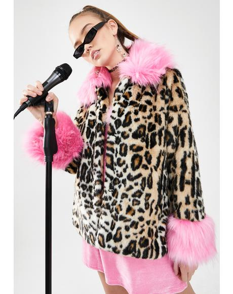 Sass Attack Faux Fur Coat