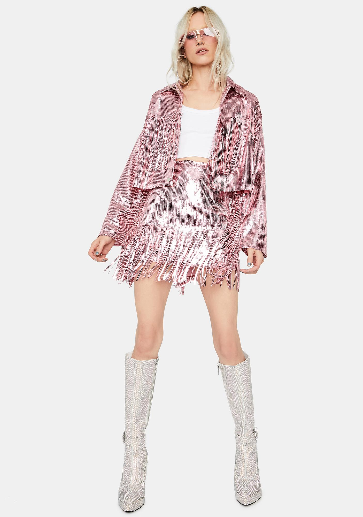 Sweet Blindin' Baddie Sequin Skirt