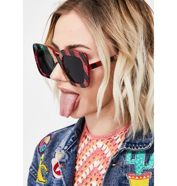 Sparkle Funk Square Sunglasses
