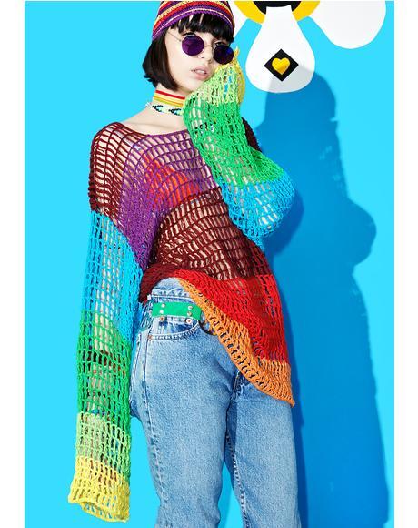 Ashbury Crochet Pullover