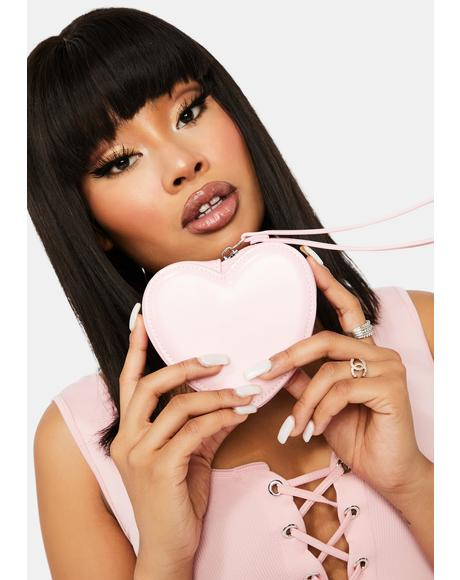 Babe ILYSM Mini Heart Clutch