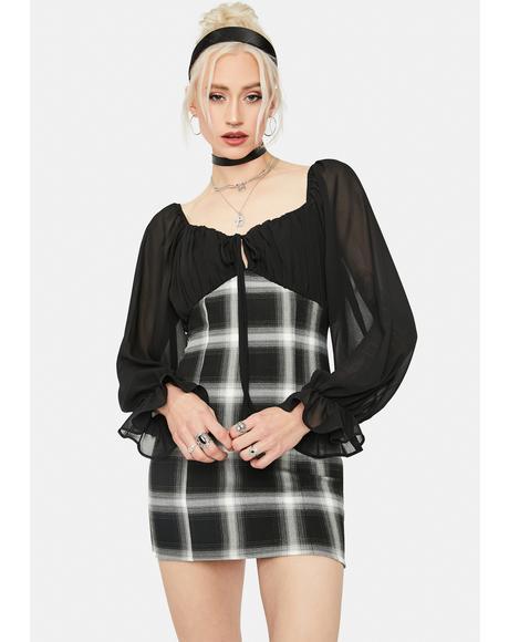 Can't Hold Back Plaid Mini Dress