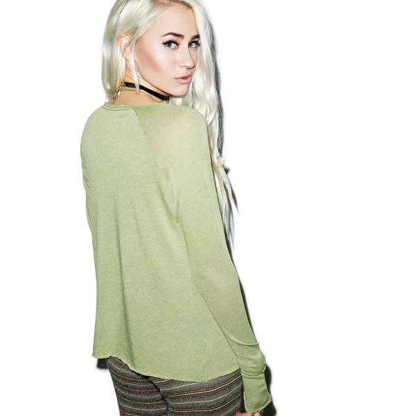 Wildfox Couture Avocado Cozy Raglan