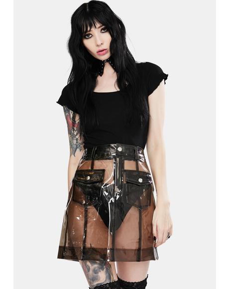 Plastic Fantastic Vinyl Skirt