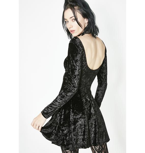 Current Mood Midnight Misfit Magic Velvet Dress