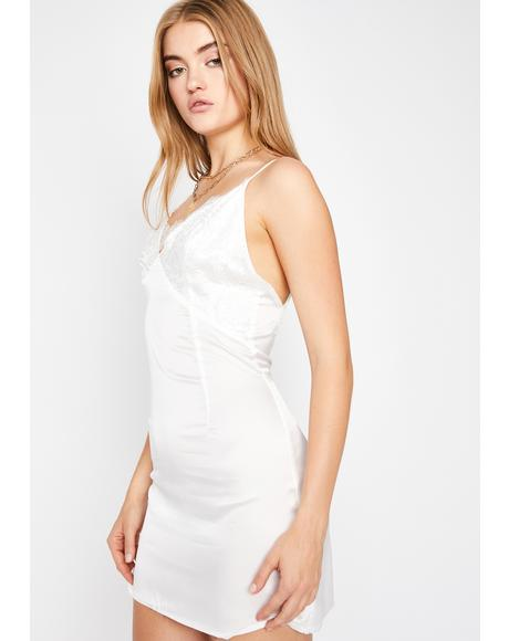 Pure Starting Trouble Lace Slip Dress