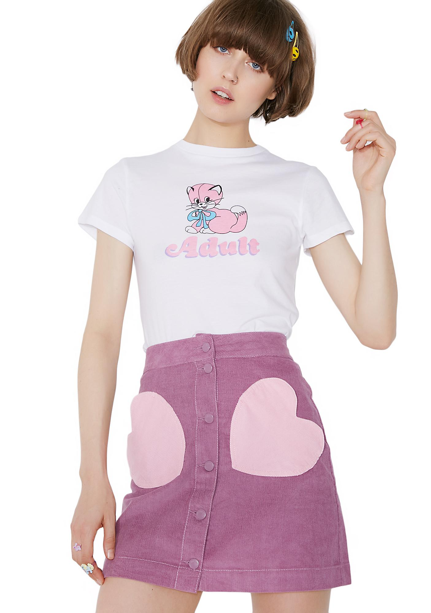 Lazy Oaf Pink Pocket Purple Skirt