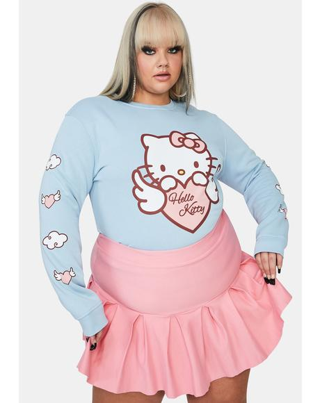 Curve Hello Kitty Angel Heart Sweatshirt