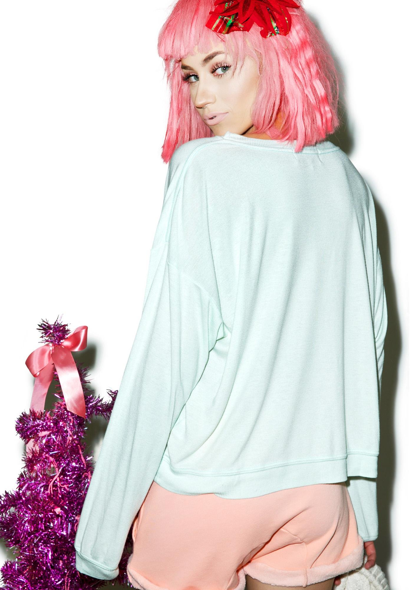 Wildfox Couture Holiday Party Oversize Sweater