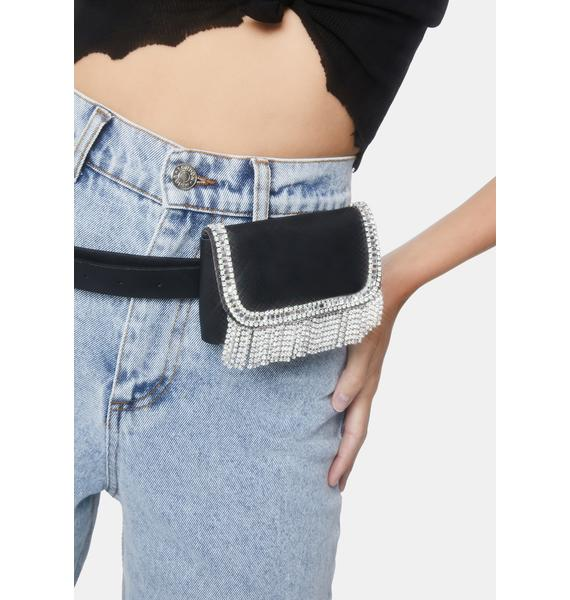 Forever Infamous Rhinestone Belted Purse