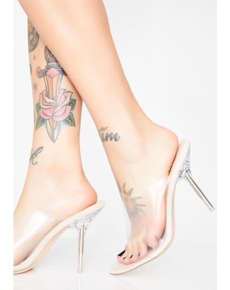 Trendin' Topic Clear Heels
