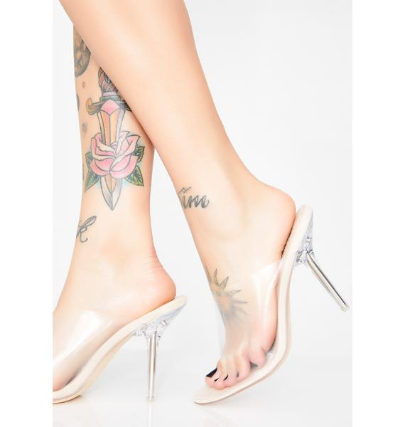 Trendin' Topic Clear Heels