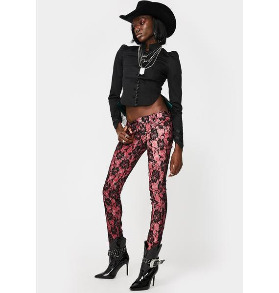 Tripp NYC Rose Lace Skinny Jeans