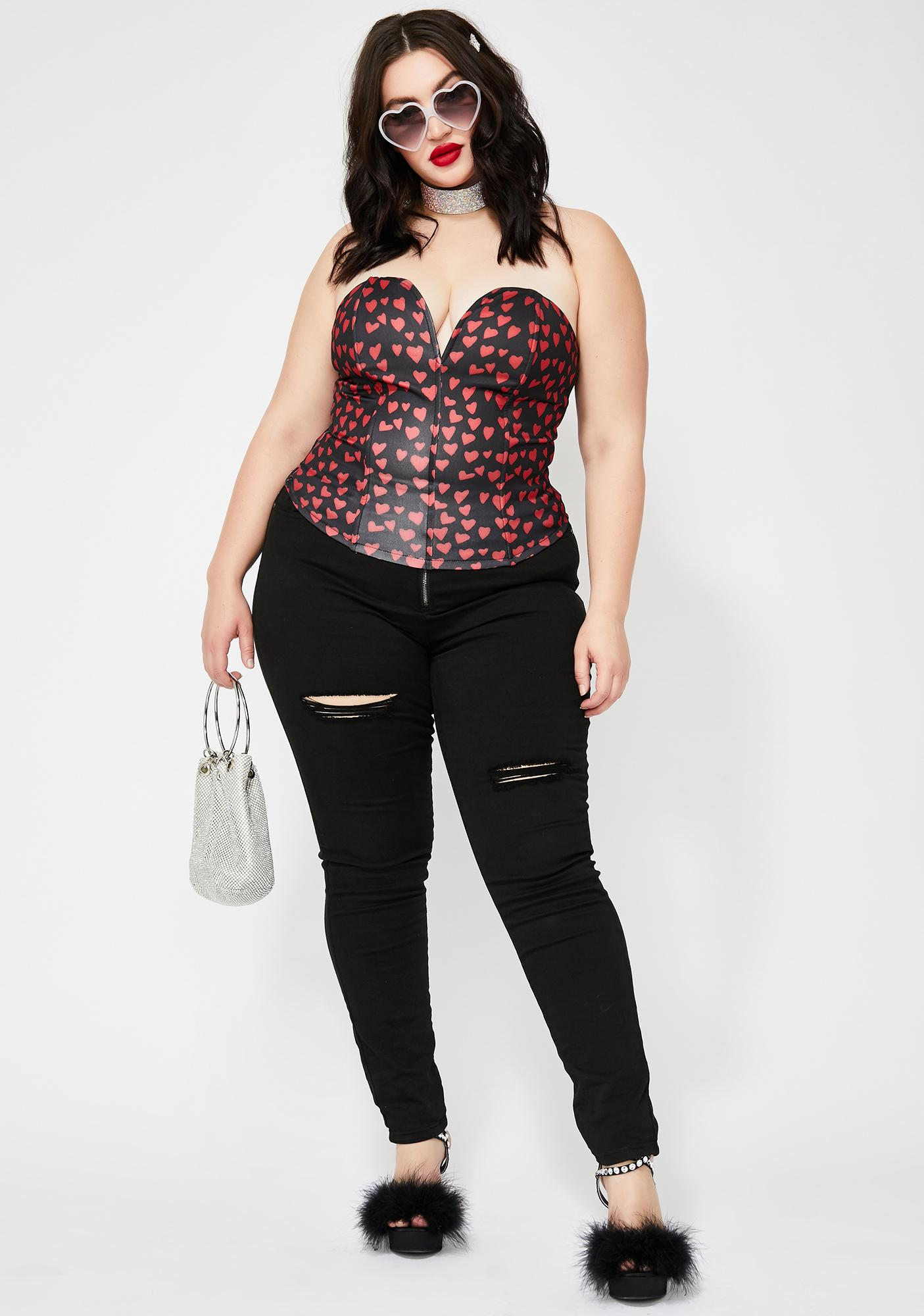 Mz Lovely Obsession Heart Bustier
