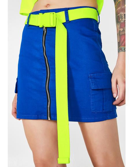 Glowaholic Dreamz Belted Skirt