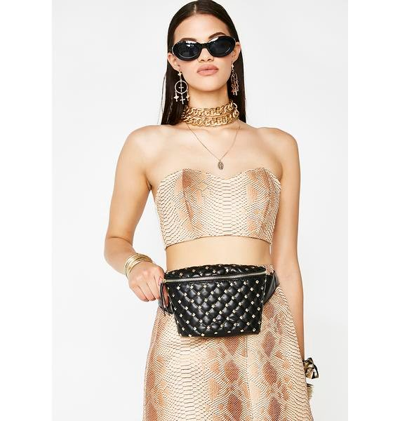 Stash The Cash Quilted Fanny Pack