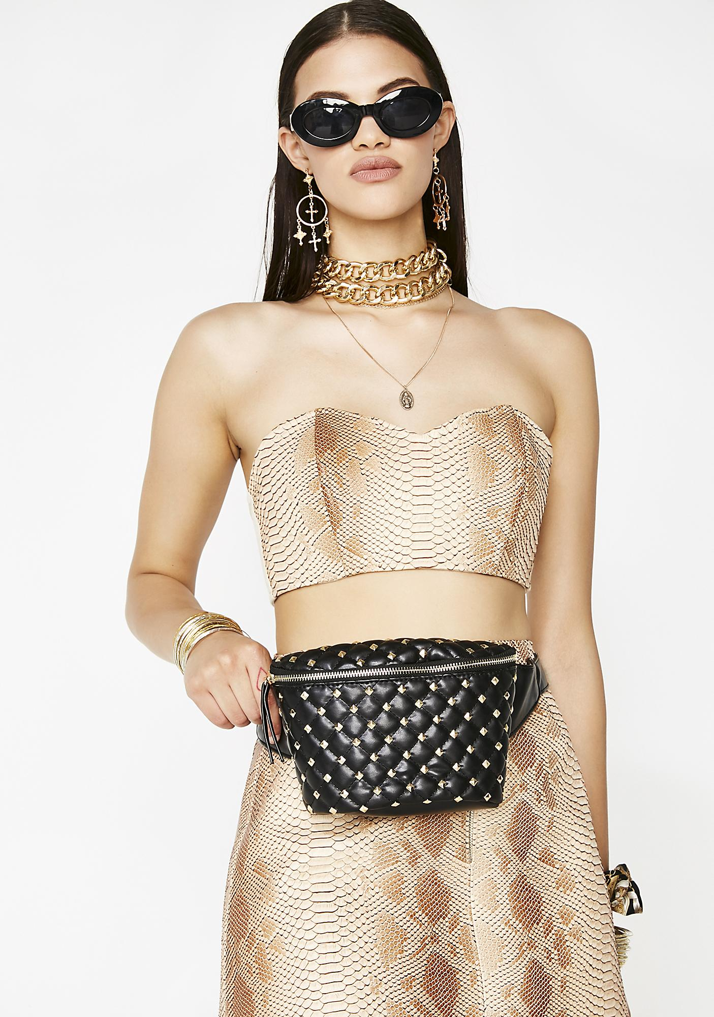 Stash The Cash Quilted Fanny Pack by Fame Accessories