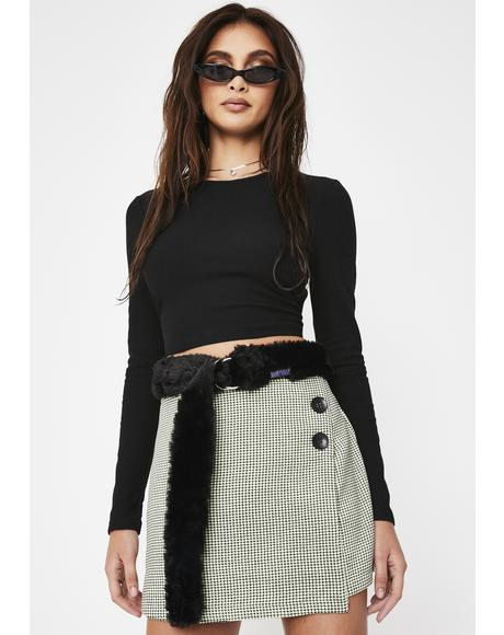Purrr Faux Fur Belt