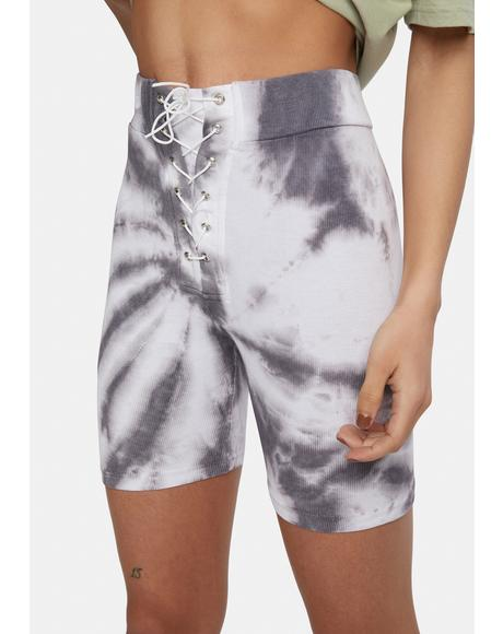 Totally Pumped Tie Dye Bike Shorts