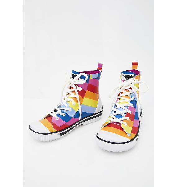 Rocket Dog Rainy Spicy Stripe Sneaker Rain Boots