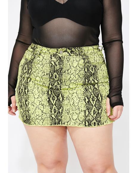 OG Vile Glow Snakeskin Skirt