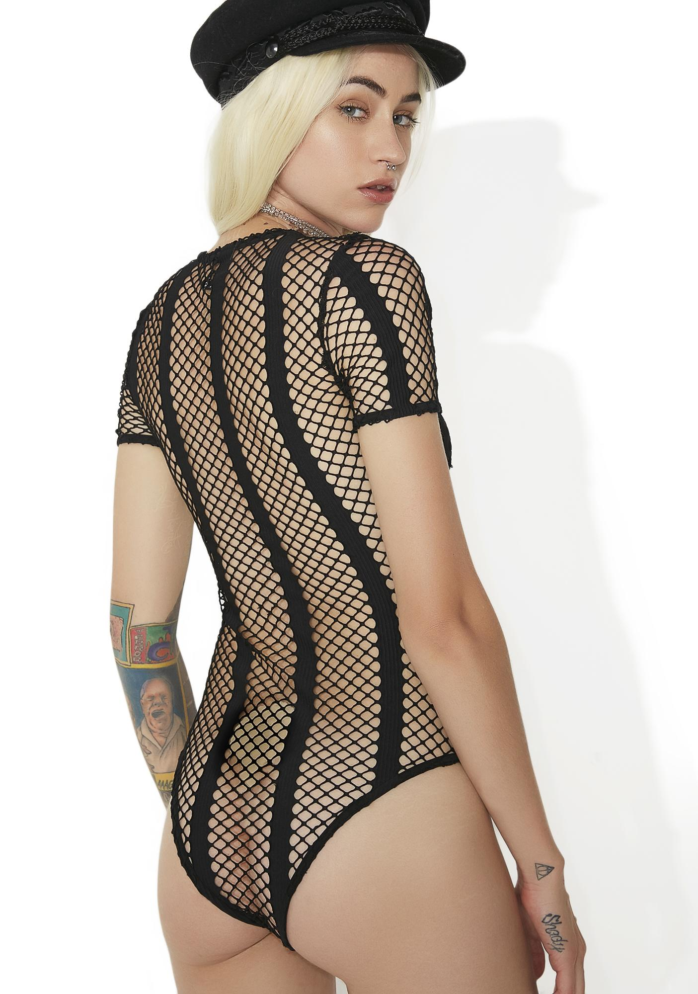 Out Of Line Fishnet Bodysuit