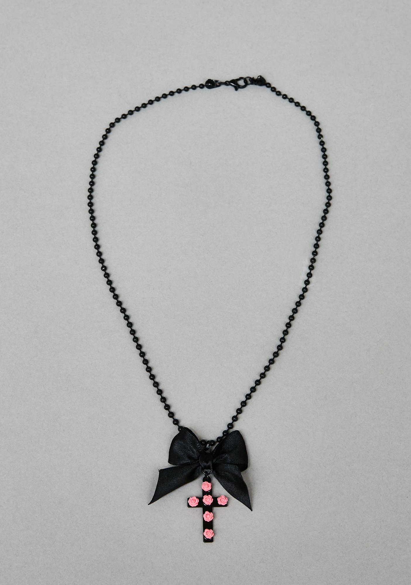 Sin With Me Cross Necklace