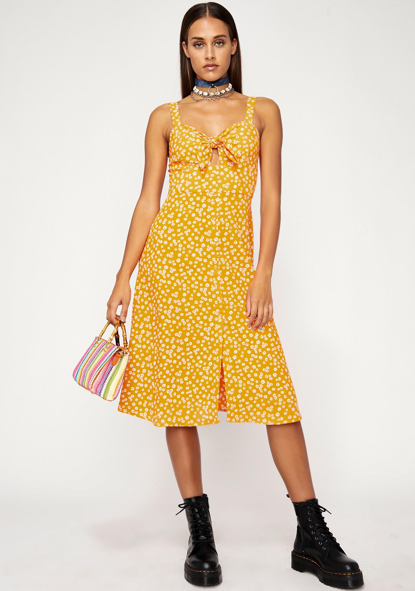 Honey Tangerine Floral Dress