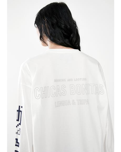 Carnitas Chica Bonitas Long Sleeve Graphic Tee