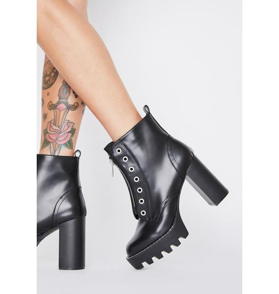Tricky Chick Heeled Booties