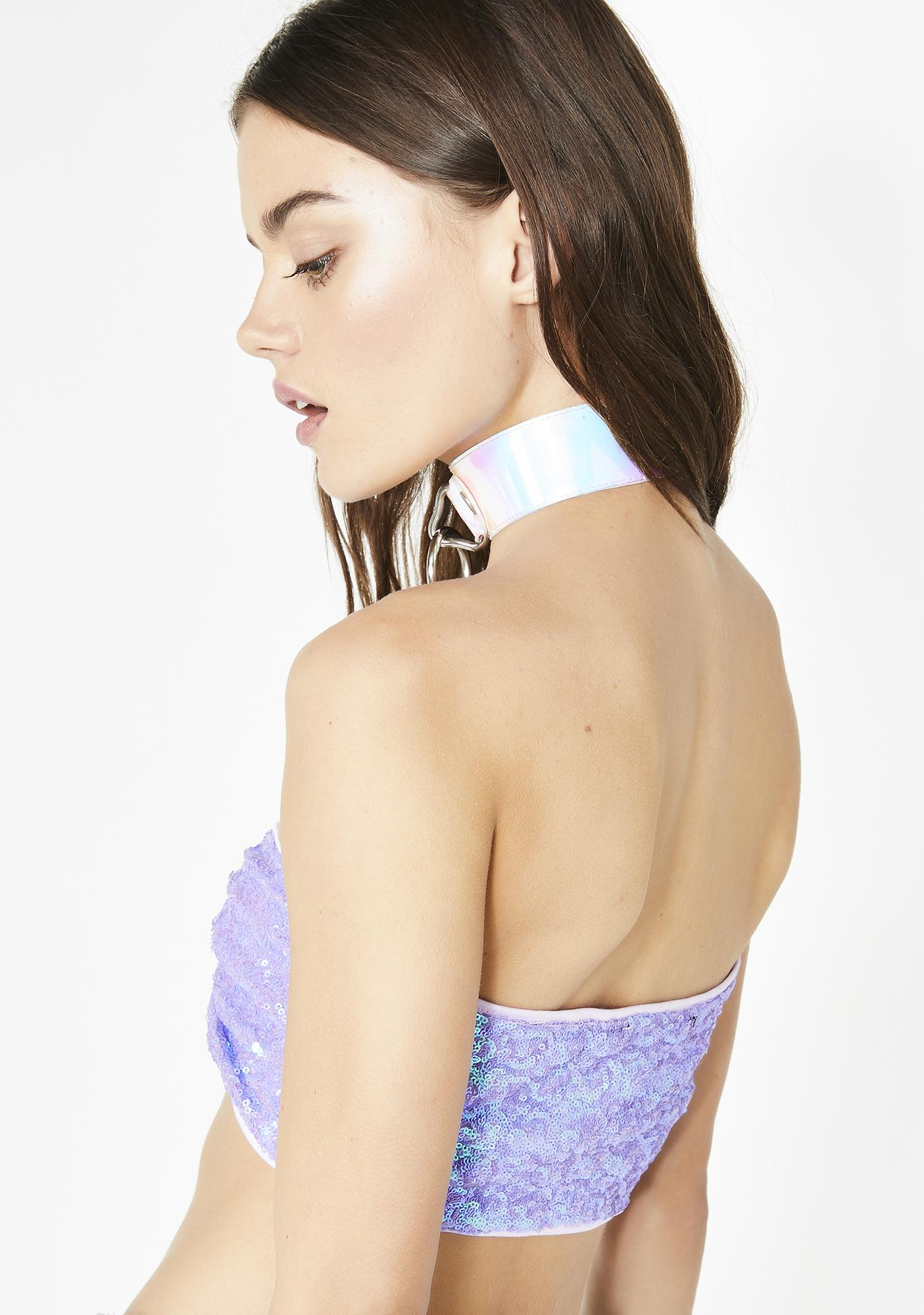 Jaded London Fairy Sequin Bandeau Buckle Top
