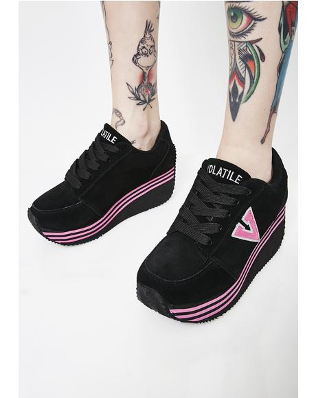 Fuchsia Elevation Platform Sneakers