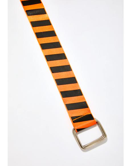 Juiced Danger Zone Striped Belt