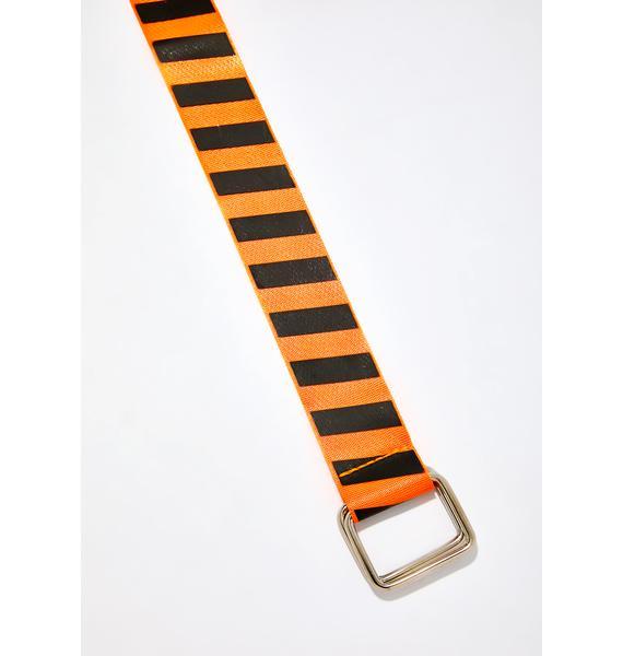 Juiced Danger Zone Striped Belt