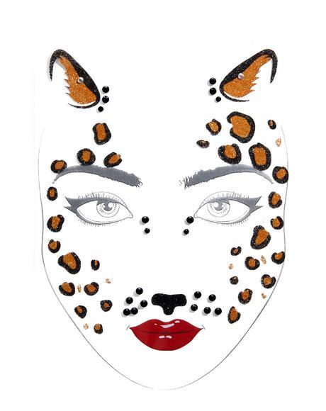 Cheetah Power Face Jewels