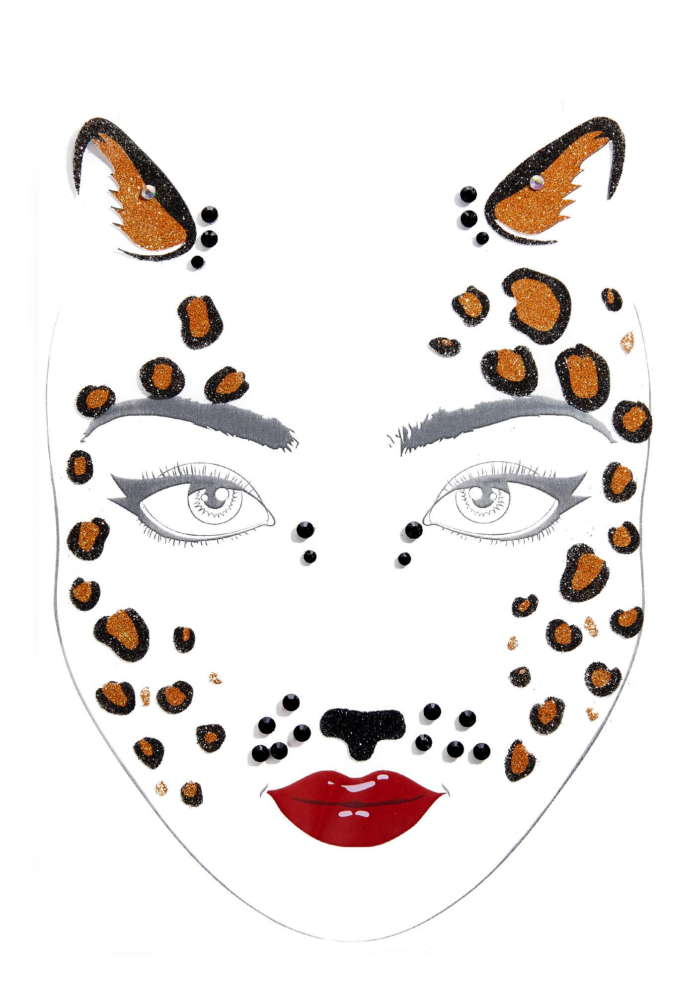 Love And Madness Cheetah Power Face Jewels