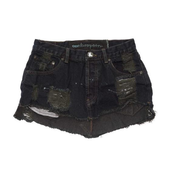 One Teaspoon Junkyard Mini Skirt
