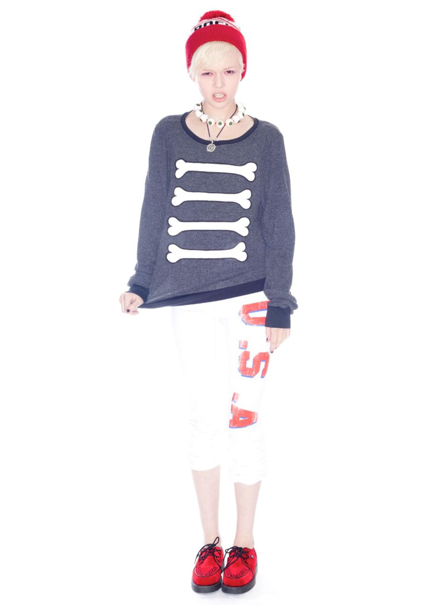 Wildfox Couture Caveman Baggy Beach Jumper