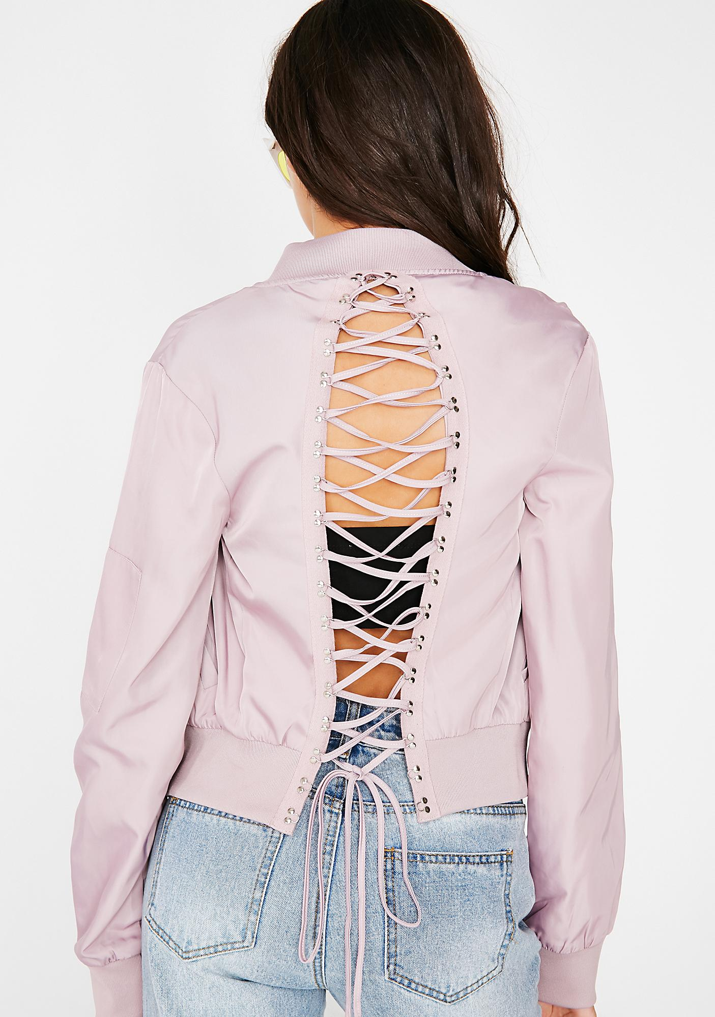 Hidden Agenda Lace-Up Jacket