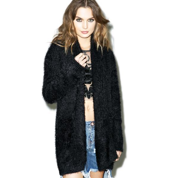 For Love & Lemons Dark Blizzard Cardigan
