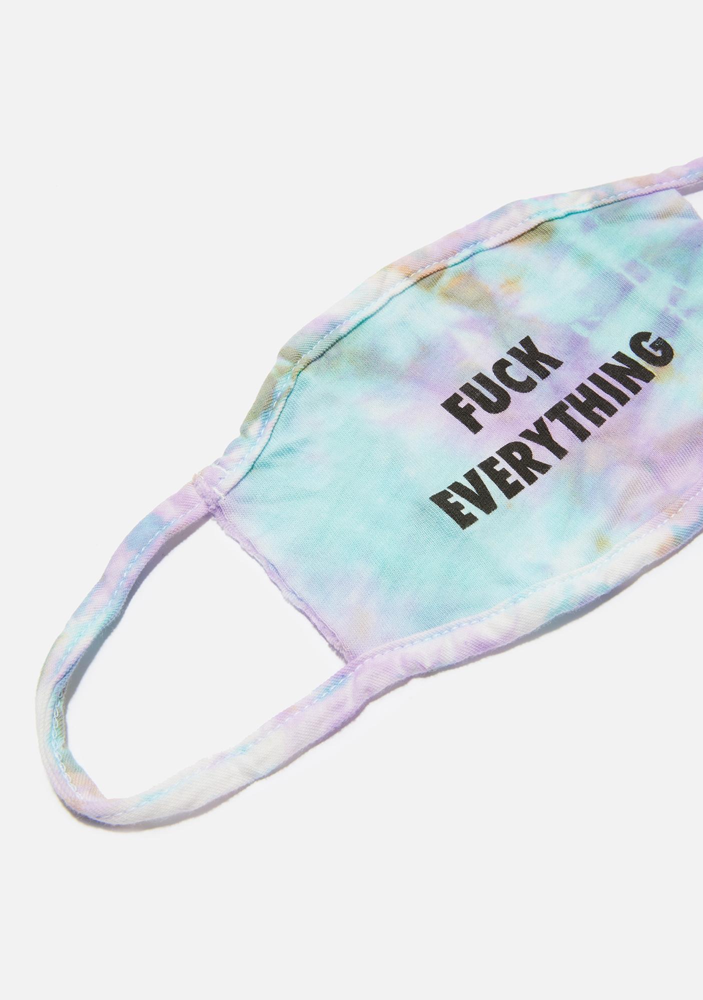 Kill Brand Fuck Everything Purple Tie Dye Face Mask