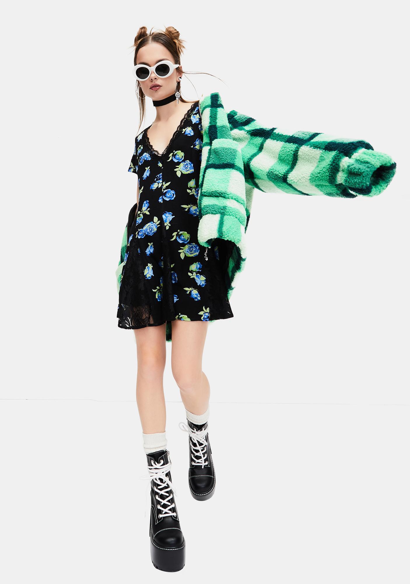 dELiA*s by Dolls Kill Grander Tales Floral Mini Dress