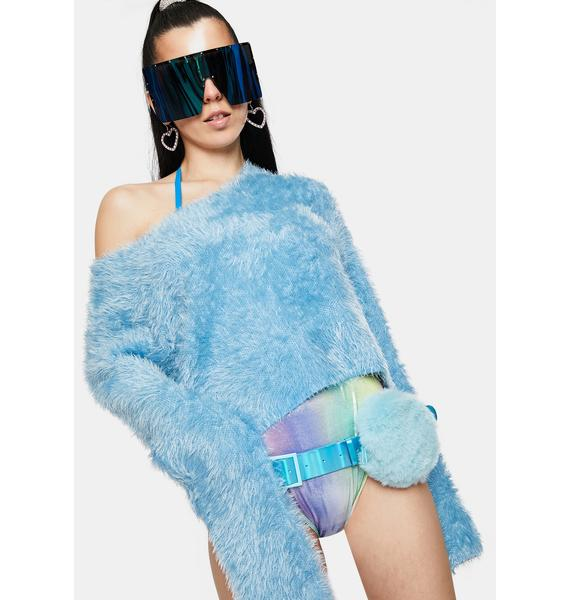 Club Exx Frostbite Fuzzy Harness And Fanny Pack Set