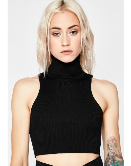 Poetry Slam Sleeveless Turtleneck