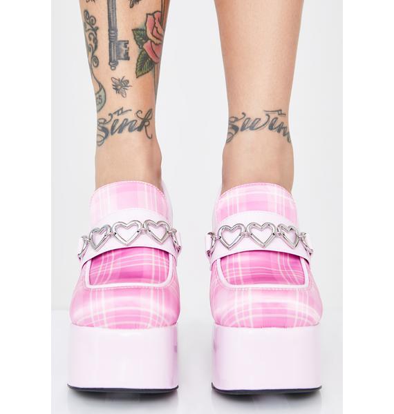 Sugar Thrillz Prep Skool Princess Platform Heels