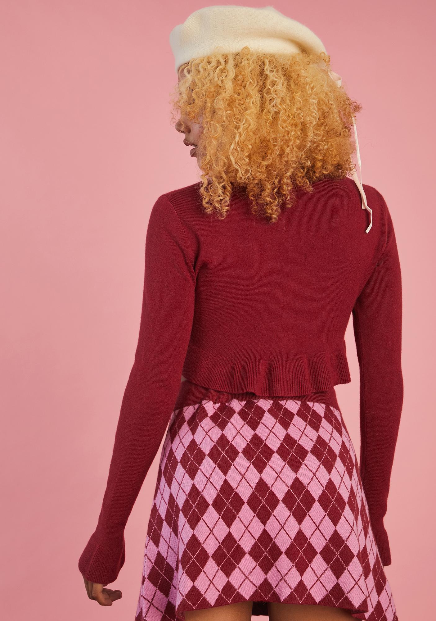 Sugar Thrillz Morning Musings Argyle Sweater