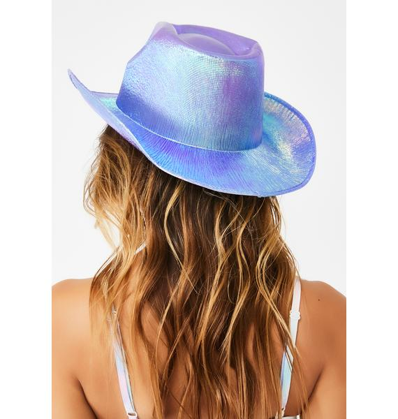 Replay Vintage Sunglasses Fairy Rave Rodeo Iridescent Cowboy Hat