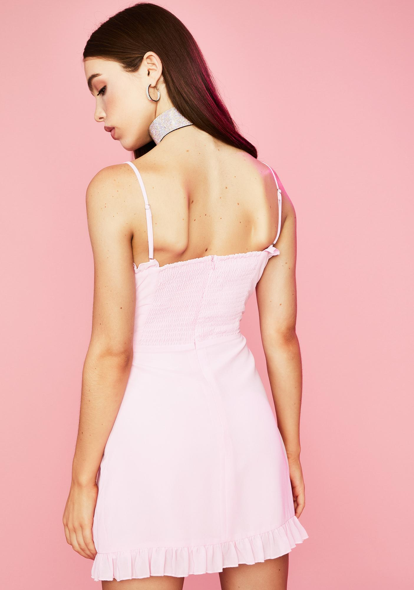 Sugar Thrillz Rose Innocent Indulgence Lace Up Dress