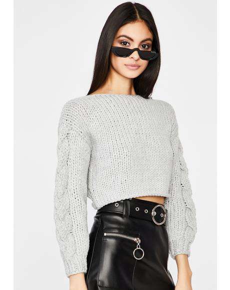 Smoke Thicc N' Rich Crop Sweater