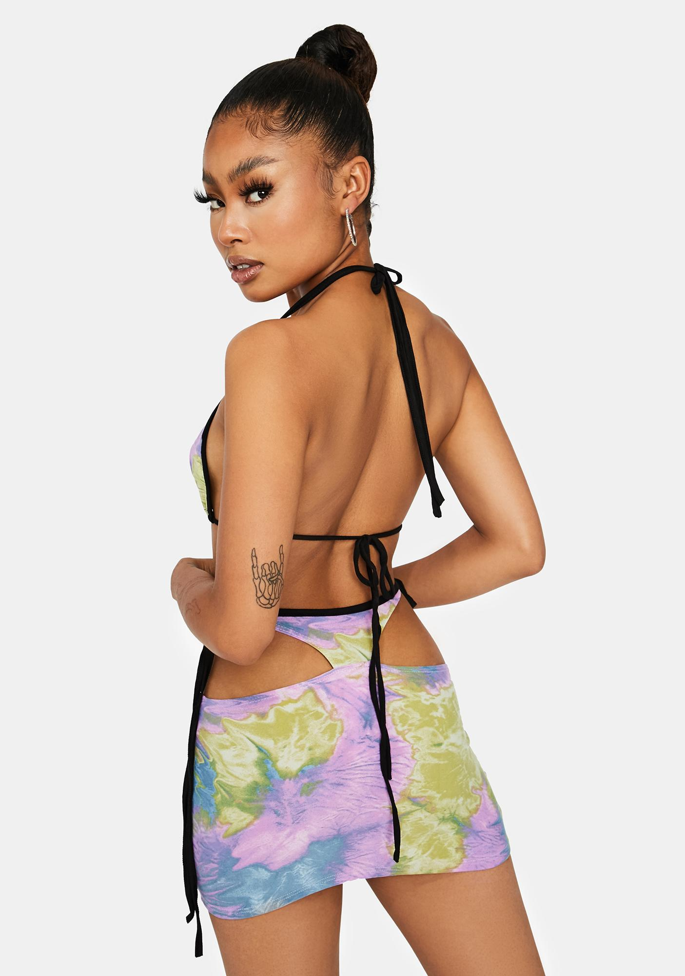 Sherbet Top The Charts Tie Dye Skirt Set
